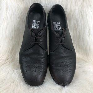 Ferragamo lizard embossed dress shoe. Size 6.5 EEE
